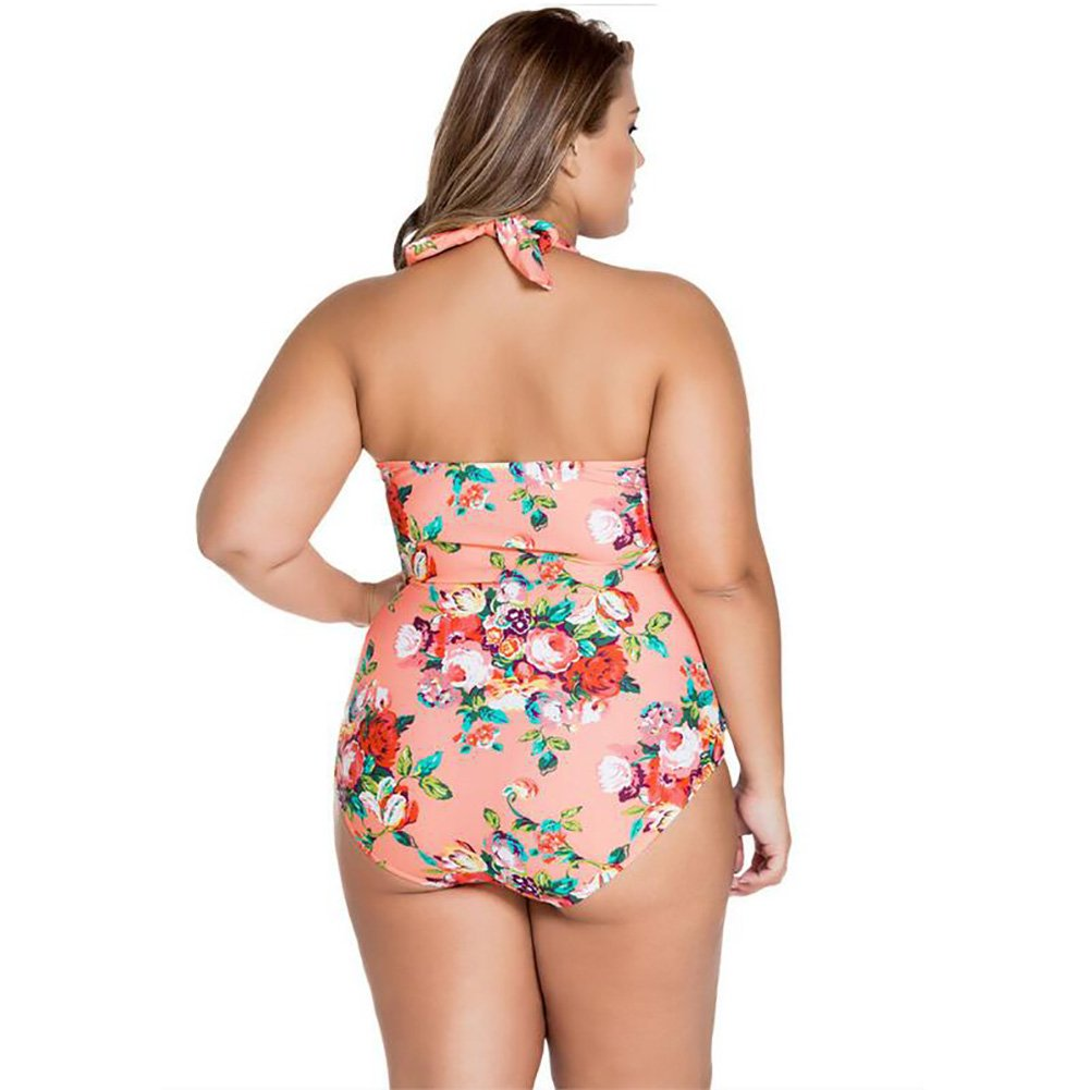 OOSM&H Frauen Bikini Neckholder Plus Größe One One One Piece Floral Badeanzug Beachwear L-4XL B07CVWXJ17 Bikini-Sets Haltbarer Service 42b0a6