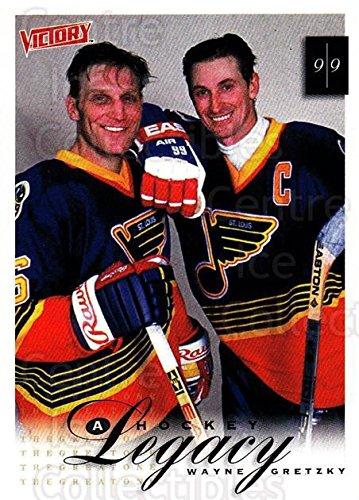 Victory Hockey Cards (Wayne Gretzky, Brett Hull Hockey Card 1999-00 UD Victory 421 Wayne Gretzky, Brett)