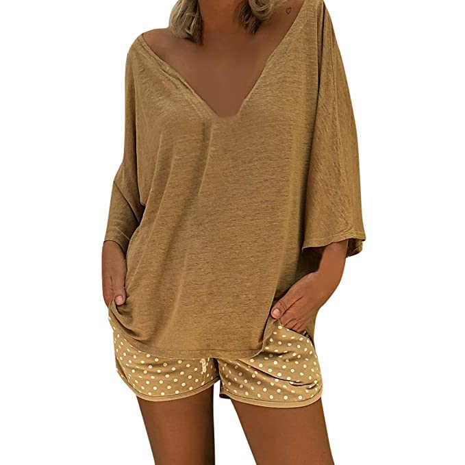 TIFENNY Women V Neck Caftan Beach Cover Up Plus Size Vintage ...