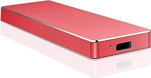 External Hard Drive, Uiesy External Hard Drive Portable Slim Hard Drive Compatible with PC, Desktop, Laptop, Mac (1TB, Red)