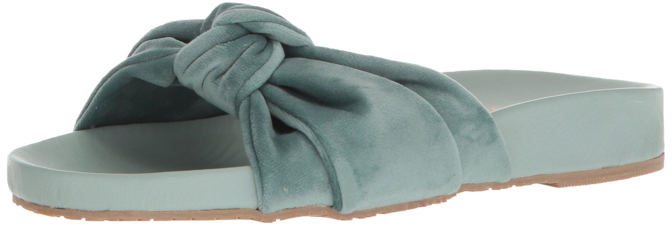KAANAS Women's Santa Rosa Twist Turban Pool Shoe Slide Sandal, Mint, 10 M US