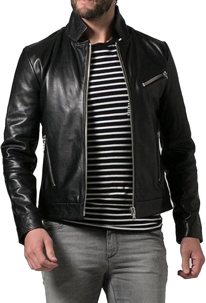 Genuine Sheep Leather Mens Slim Fit Party Jacket LT310