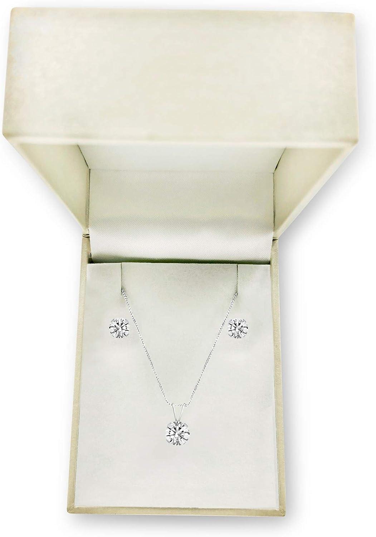 NATALIA DRAKE Genuine Round Unisex Tanzanite or White Topaz Stud Earrings or Pendant Birthstone in Sterling Silver