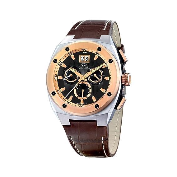 Jaguar 625/4 - Reloj de caballero de cuarzo, correa de piel color marrón