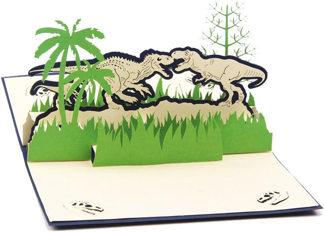 Dinosaurios 3d Pop Up Tarjeta de felicitación el período jurásico tarjeta de felicitación para padre día madre día Chrismats día Regalos de cumpleaños