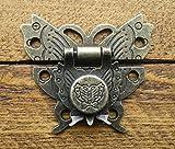Celtic Woods Lock Clasp Box Closer Latch Hasp Ornate Butterfly Antique Bronze Finish C082