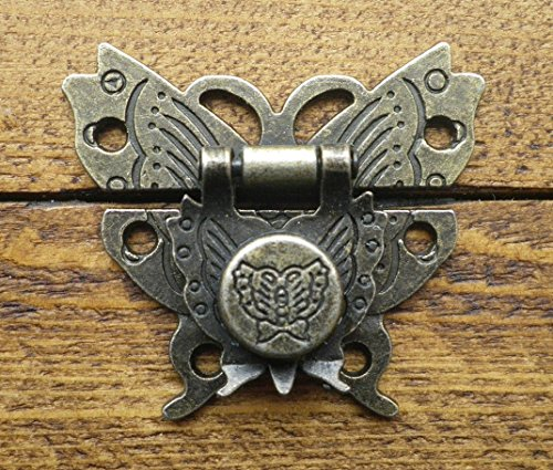 Celtic Woods Lock Clasp Box Closer Latch Hasp Ornate Butterfly Antique Bronze Finish C082