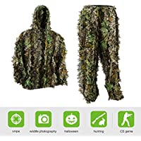 Pellor Kids Ghillie Suits, 3D Leafy Ghille Suit for Youth...