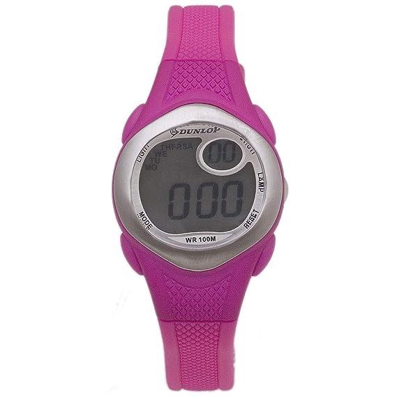 Dunlop Reloj Digital para Mujer de Automático con Correa en Resina DUN-177-L05: Amazon.es: Relojes