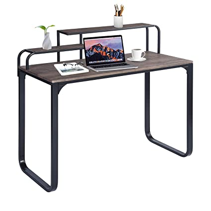 Industrial office desk Live Edge Image Unavailable Amazoncom Amazoncom Greenforest Computer Writing Desk Industrial Style Home