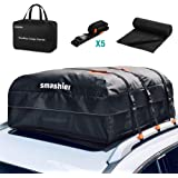 Smashier Car Rooftop Cargo Carrier Bag - 16 Cubic Ft Roof Bag, 100% Waterproof Military Grade Nylon Cordura Fabric…