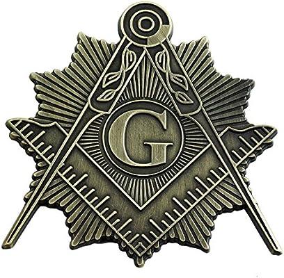 Freemason Emblem Square /& Compass Design Aluminum License Plate Novelty Sign
