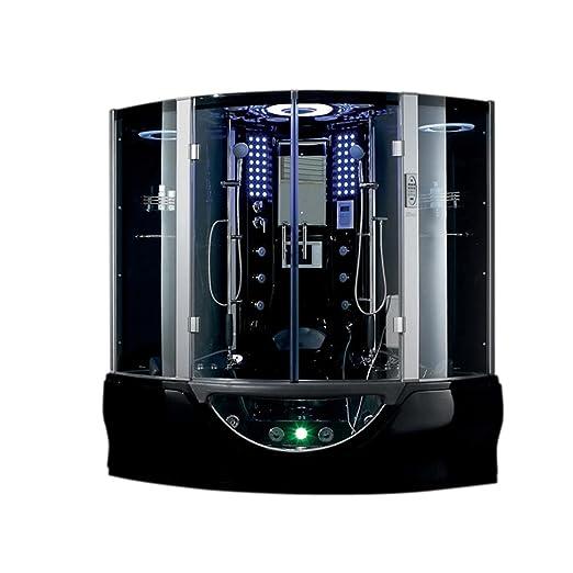"Modern Lifetime Bath Hydromassage Whirlpool Bathtub 2015 Sedona Corner Steam Shower Enclosure Unit 64 1"" L x 64 1"" W x 87 8"" H Amazon DIY & Tools Modern - Popular bathroom shower units New"