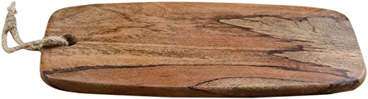 Rusticity/® Wooden Chopping//Cutting Board//Serving Tray Handmade | 17x8 in Rectangle with Handle