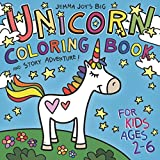 Jemma Joy's Big Unicorn Coloring Book and Story Adventure for Kids Ages 2-6