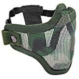Tactical Crusader 2G Airsoft Strike Steel Half Mask, Jungle Camouflage