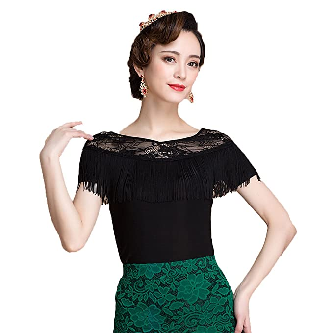 d26a8257086 NAKOKOU Ballroom Sexy Modern Tassel Latin Dancing Clothing Top Women ...