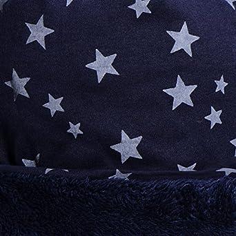 DonDon Bonnet dhiver homme slouch beanie souple avec imprim/é /étoiles doublure moelleuse et chaude