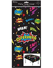 1 Oblong Plastic Children's Party Tablecloth Table Cover 120x180 Boy's Superhero