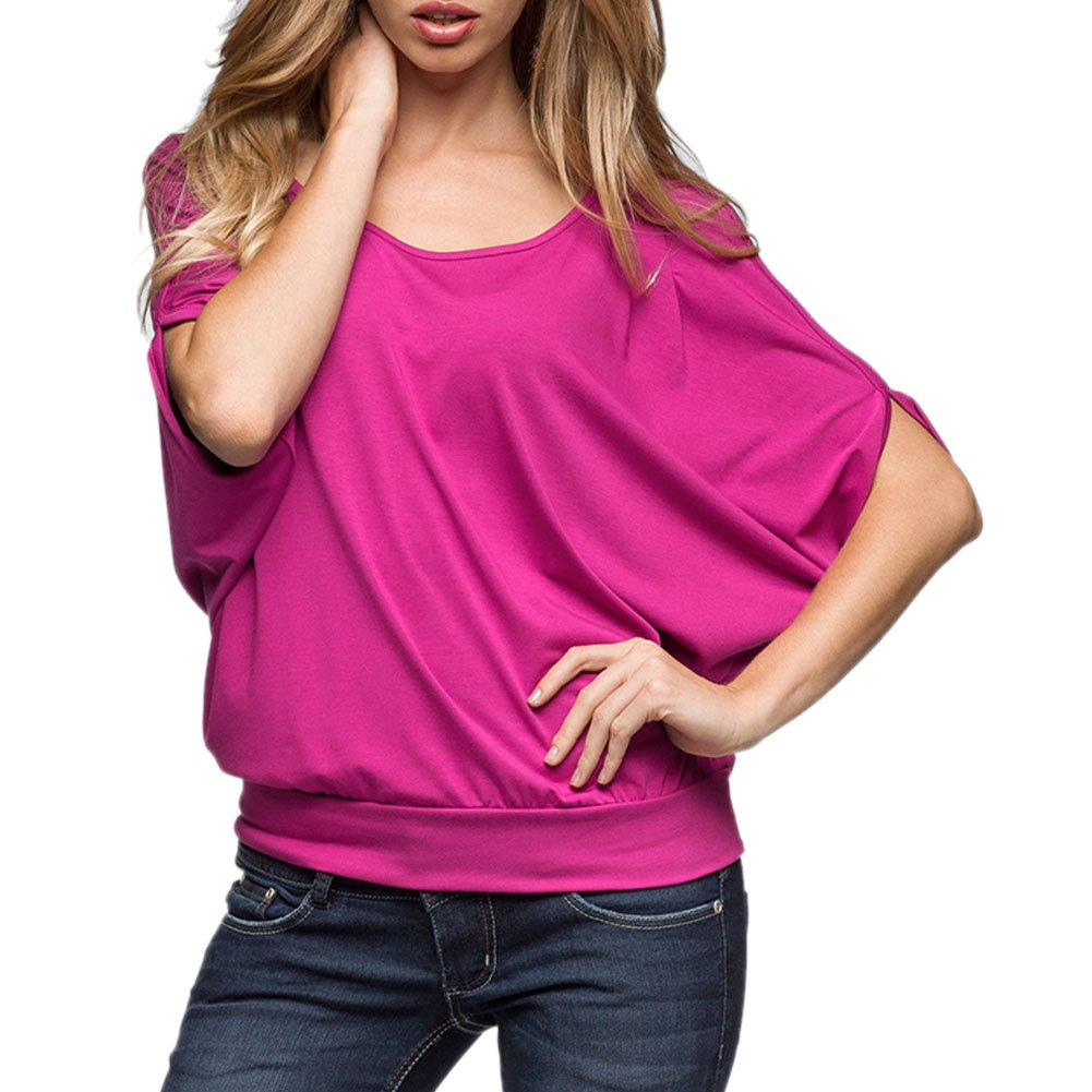 Fashion Story Woman Cold Shoulder Tops Shirring Drape Plus Size T Shirt Blouse