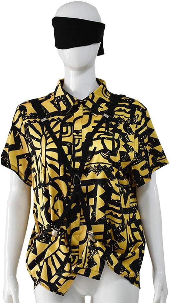 Aosida Stranger Eleven Shirt Disfraz de Batalla Temporada Tres Halloween Cosplay Casual Summer Short Sleeve Print Shirt Disfraz con máscara y Correas para los Ojos: Amazon.es: Ropa y accesorios