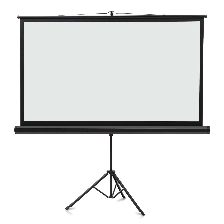 Quartet Projection Screen, Wide Format, 16:9 Aspect Ratio, 52'' x 92'', Tripod Base (85568)