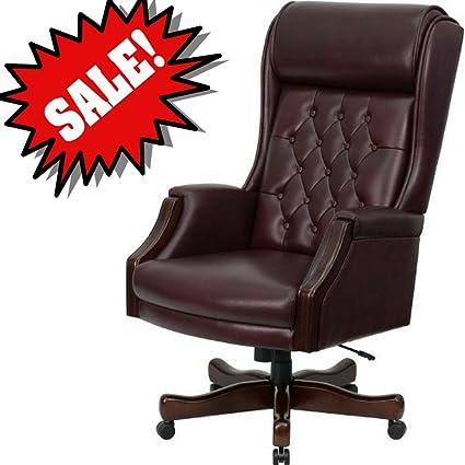 Cool Amazon Com Burgundy Desk Chair Dark Red Leather Upholstery Creativecarmelina Interior Chair Design Creativecarmelinacom