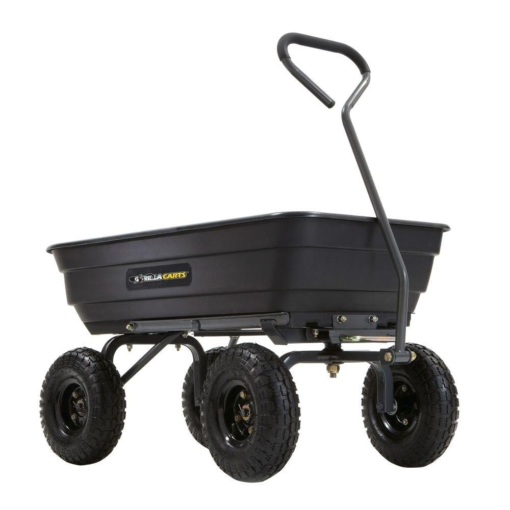 Tricam Industries Inc. Gorilla Carts 600 lb. Poly Garden Dump Cart-GOR4PS