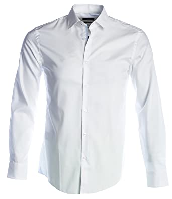da069711f Amazon.com: Hugo Boss Mens Smart Shirt JERRIS 50375323 Size 39 White ...