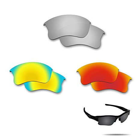 f92f6a5332 Image Unavailable. Image not available for. Color  Fiskr Anti-Saltwater Polarized  Replacement Lenses for Oakley Flak Jacket XLJ ...