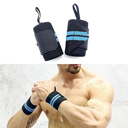 Generic par (2) Fitness muñequeras peso entrenamiento de fuerza muñeca envuelve levantamiento de potencia