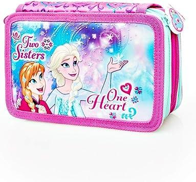 Disney Frozen 57224 Estuche 3 bisagras, Plumier Triple, 44 Piezas: Amazon.es: Juguetes y juegos