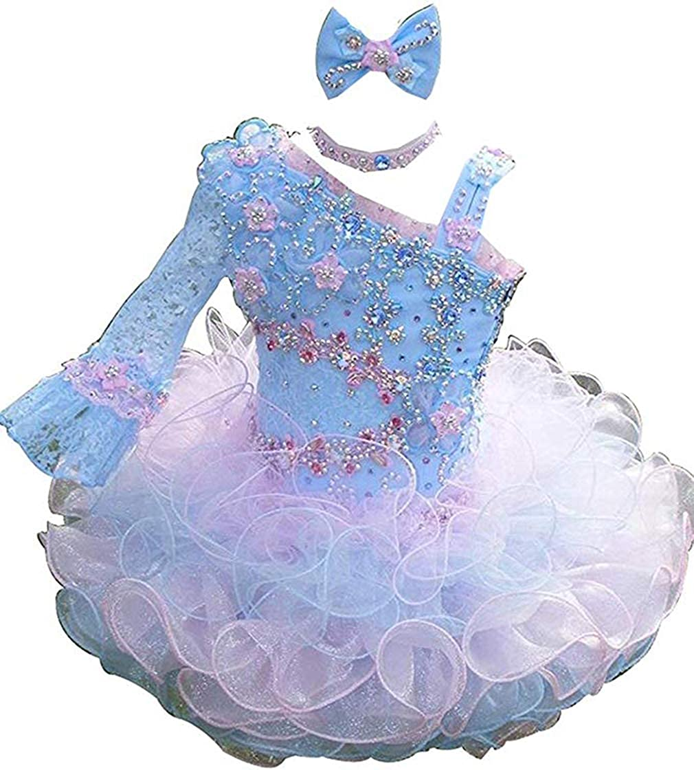 Beiji Baby Girls' Easy-to-use One Shoulder Toddlers Limited time for free shipping Mini Feather Pa Cupcakes
