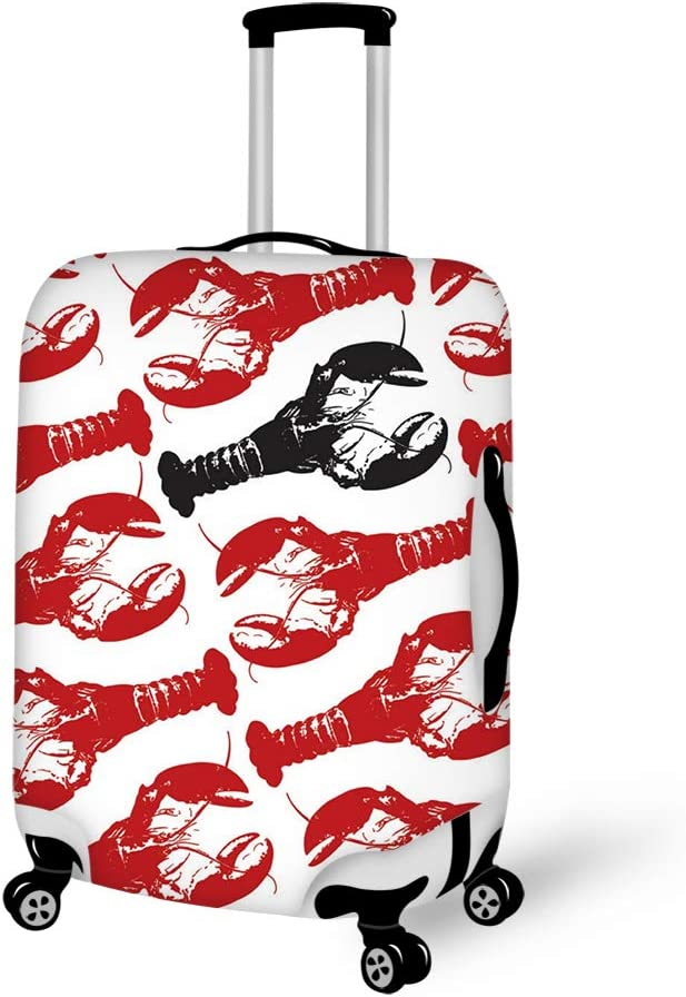 Lobster Lobster Black Lobster 18-21 inch Travel Luggage Cover Spandex Suitcase Protector Washable Baggage Covers
