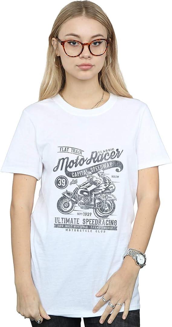 camisetas mujer motera