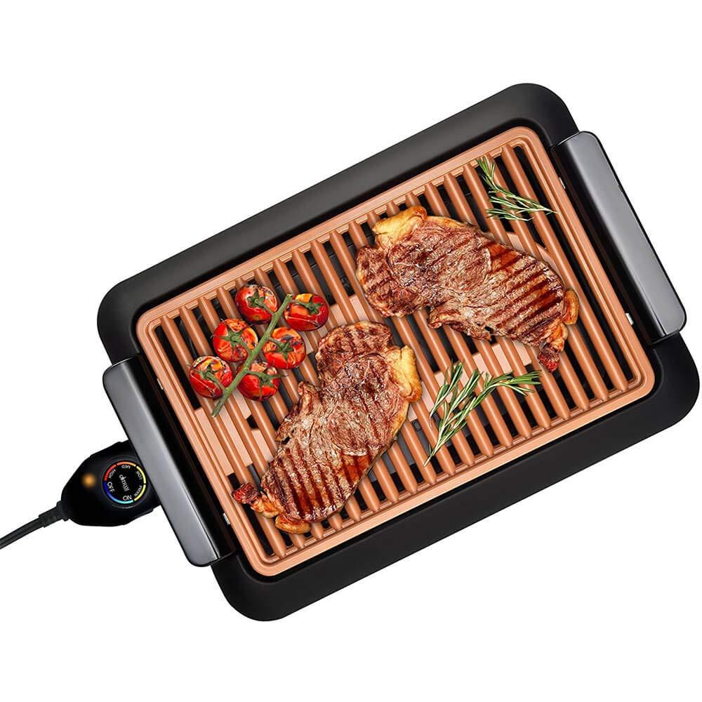Smokeless Grill - Parrilla sin humos, cocina y asa en el interior de su casa - Teletienda BOTOPRO: Amazon.es: Hogar