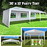 BenefitUSA Wedding Party Tent 10'x30' Easy Set Gazebo BBQ Pavilion Canopy Cater Events Outdoor Camping W/4 Sidewalls