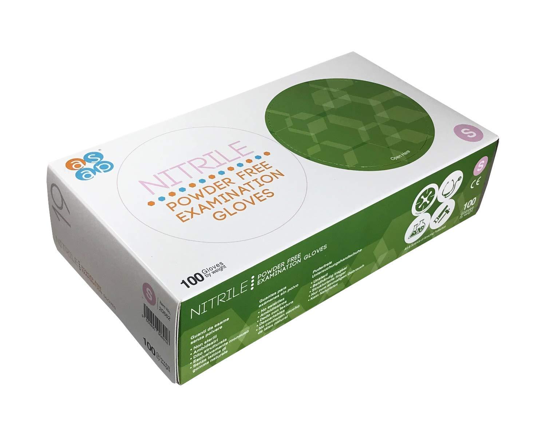 XS//Extra Peque/ño Caja 100 ASAP Guantes desechables de examen de nitrilo rosa sin polvo