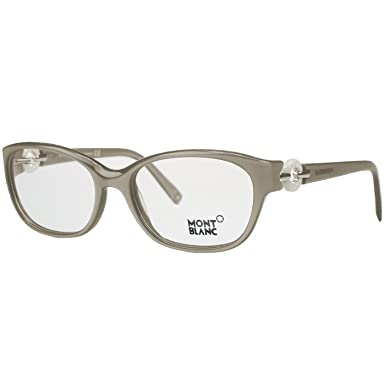 67eedab88fb Amazon.com  Montblanc MB0442 V 057 Taupe Pearl Oval Opticals  Clothing