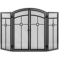MyGift 3-Panel Classic Metal Fireplace S...