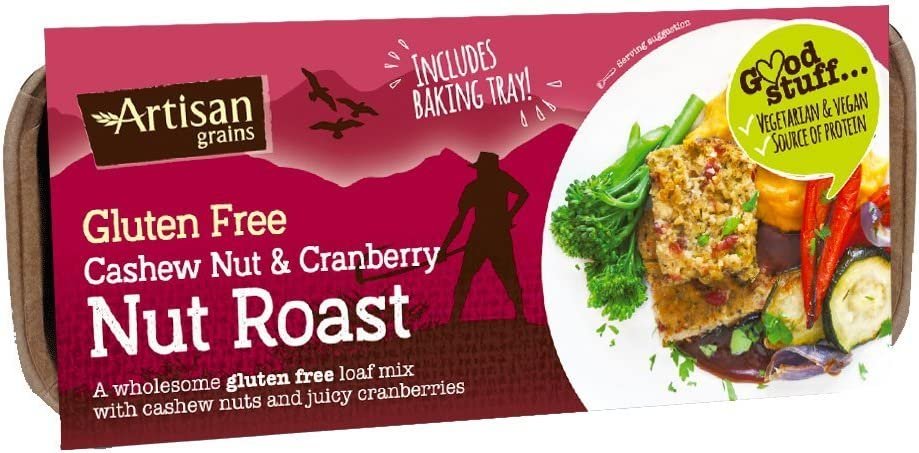 6 Pack of Artisan Grains GF Cashew & Cran Nut Roast 200 g