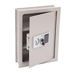 HomCom 19' Flat Recessed Digital Keypad Home Security Gun Cash Wall Safe Box Review