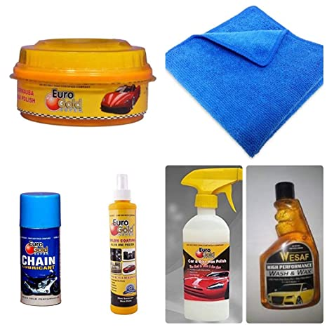 Eurogold High Performance Carnauba Wash Wax Car Shampoo Kit