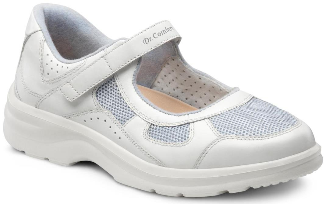 Dr. Comfort Women's Susie Blue Diabetic Mary Jane Shoes