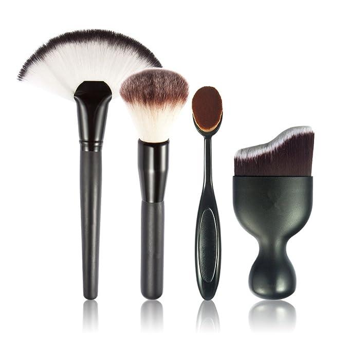 1 opinioni per JasCherry Pro 4 Pcs Pennelli Trucco- Professionale Cosmetico Spazzole / Make Up
