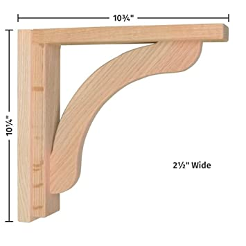 Nice Corbels For Countertops And Shelves   Oak Concave 10
