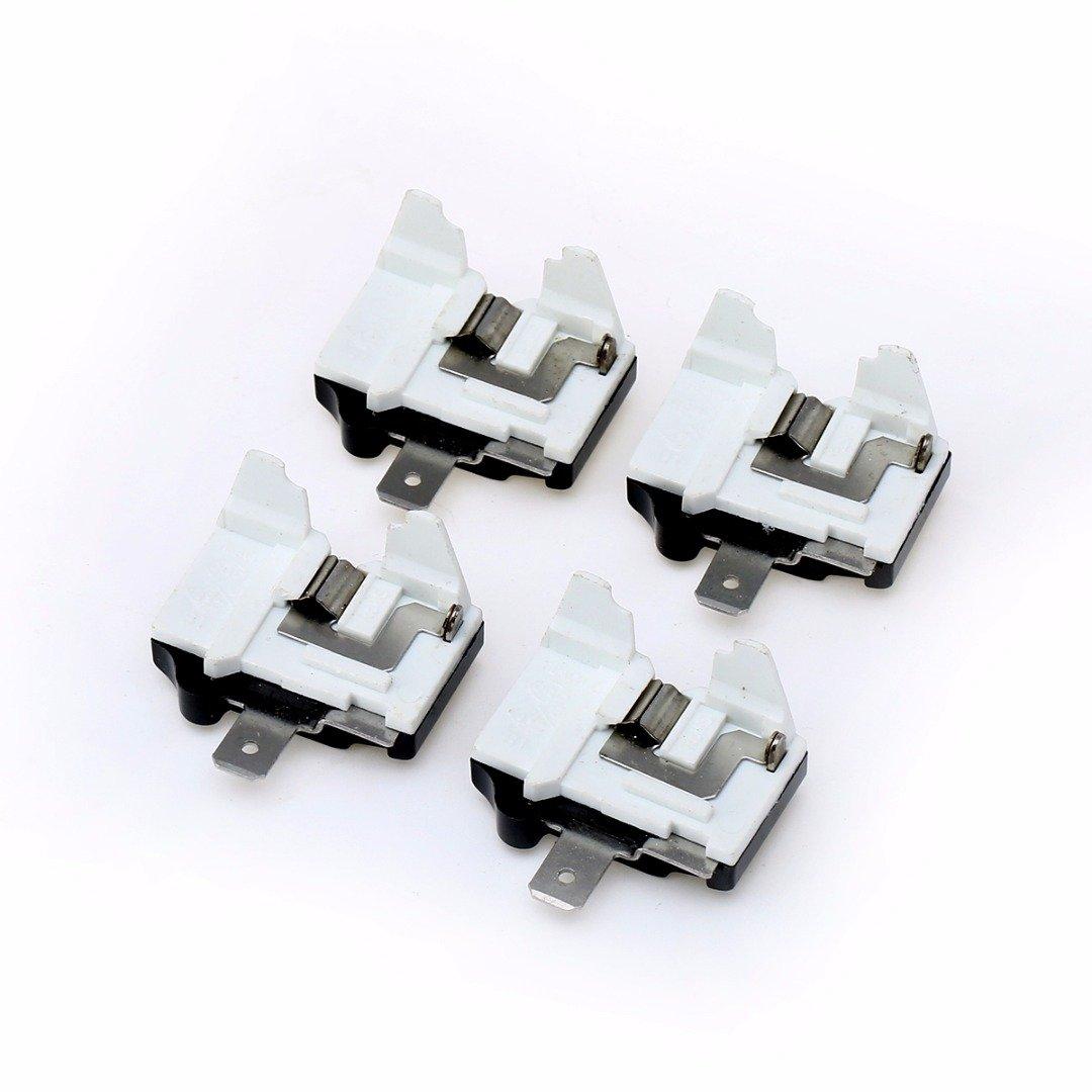 ERTIANANG Top Quality 4pcs Refrigerator Overload Protectors Plastic Overload Protector For Freezer Compressor Power Tools Accessoriesl