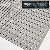 VinTread Mat Vinyl Wet Area Floor Matting for Swimming Pool Shower Sauna Spa Bath Tub Bath Splash Matting Water Drain Wet Flooring Anti-Slip Indoor/Outdoor by VinTek (3' x 2', Gray)
