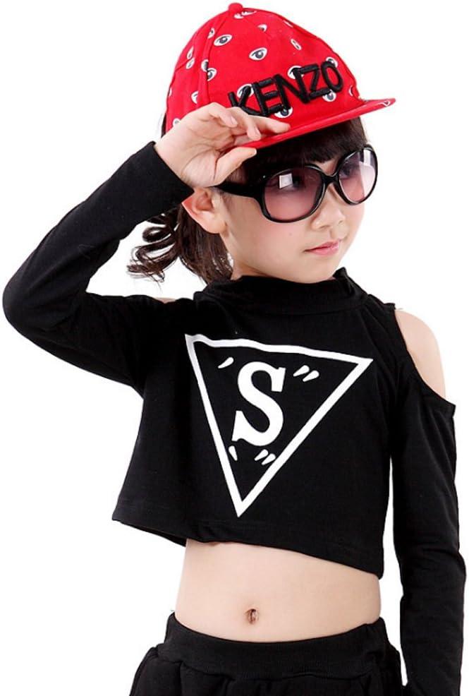 Voleseni/™ Girls Children Modern Jazz Hip-Hop Dancewear Kids Dance Costumes Top/&Pants