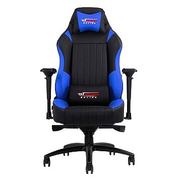 Gt Omega Evo Xl Racing Burostuhl Gaming Sessel Aus Leder Schwarz